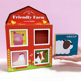 美國Petit Collage - 童書 : 迷你圖書館 - 快樂農場