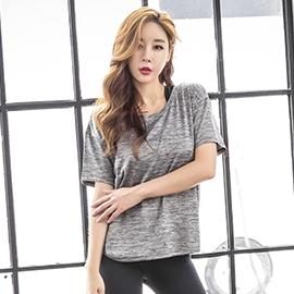 運動上裝-夏季新款健身服女運動短袖 健身房跑步瑜伽上衣寬鬆韓版 降價兩天