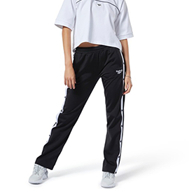REEBOK SNAP PANT 女裝 長褲 慢跑 有氧 休閒 針織 舒適 透氣 黑【運動世界】FP8781